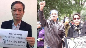 """Undated photos of Vietnamese blogger Nguyen Tuong Thuy who was arrested in Hanoi on charges of """"making, storing, and disseminating documents and materials for anti-state purposes,"""" May 23, 2020."""