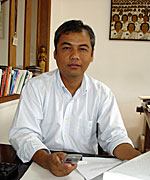 Youk Chhang: His center documents Khmer Rouge war crimes and saves the stories of survivors. Photo: RFA