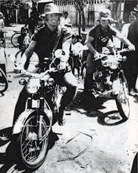 This was the last time Sean Flynn and Dana Stone were ever seen, on April 6, 1970.... Terry Khoo, a cameraman with ABC Television, took the picture. Khoo himself was killed in action July 20, 1972 in Vietnam on his last day of assignment.  Photo and caption courtesy of <em>Two of the Missing.</em>