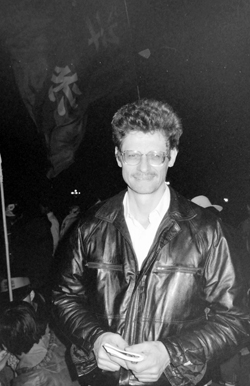 Dan Southerland on Tiananmen Square on the eve of martial law, May 19, 1989.