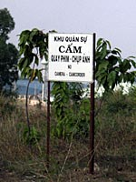 Outside an old cemetery for the South Vietnamese war dead, a sign warns visitors not to take pictures. Photo: Dan Southerland © RFA