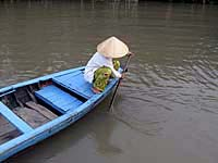 The Mekong is a world of water, boats, rice, fish-sometimes floods Photo: RFA/Dan Southerland