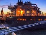 The Vladimir Rusanov, a liquefied natural gas (LNG) tanker ship, at an LNG terminal in Nantong city, eastern China's Jiangsu province, July 19, 2018.