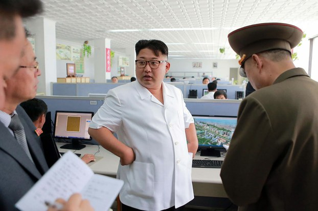 North Korean leader Kim Jong Un inspects the Paektusan architectural institute in Pyongyang in an undated picture released by North Korea's official Korean Central News Agency, July 14, 2016.