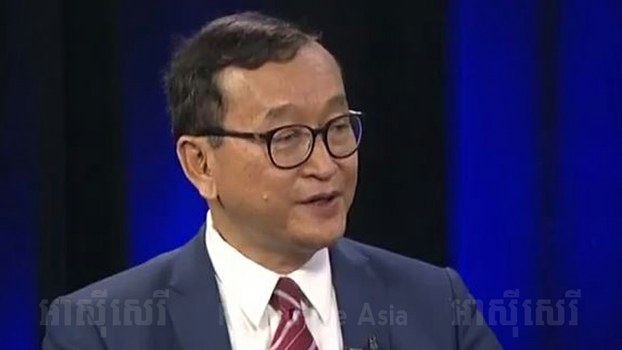 Sam Rainsy speaks with RFA in Washington, June 13, 2017.