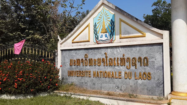 A photo shows the National University of Laos in the capital Vientiane, 2019.