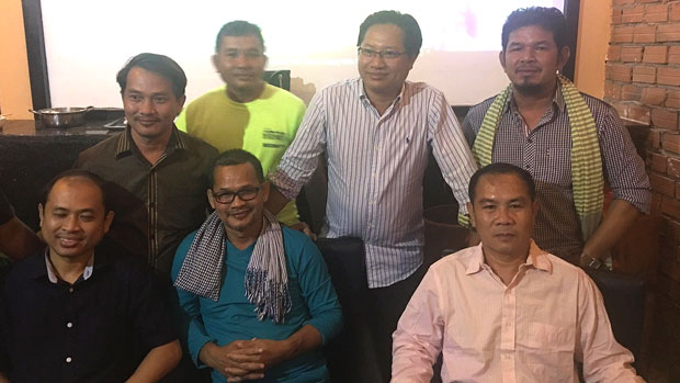 Formerly jailed CNRP activists and Hun Sen critics are shown following their release in an Aug. 28, 2018 photo.