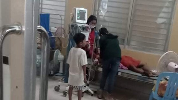 Orn Tith at the Battambang Provincial Hospital, April 30, 2020.