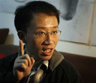 Hu Jia, photographed in 2007 while under house arrest in Beijing.