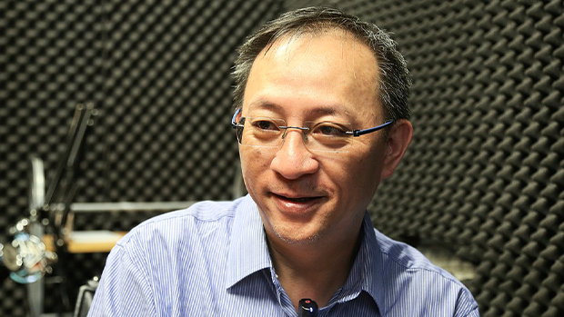 Hong Kong radio host Wan Yiu-sing, also called Giggs, is shown in an undated photo.