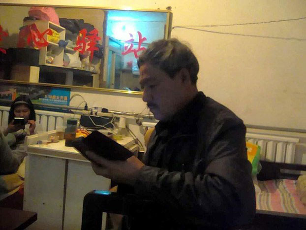 """Chinese petitioner Pei Guodong, 61, who has been on hunger strike after being detained on Oct. 31 by Beijing police on suspicion of """"picking quarrels and stirring up trouble,"""" in undated photo."""