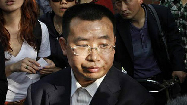 Chinese human rights lawyer Jiang Tianyong is shown in an undated file photo.