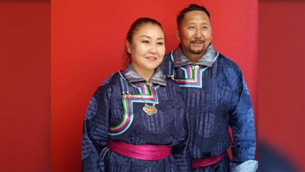Ethnic Mongolian activists Yang Jindulima and her husband, among thousands detained in Inner Mongolia amid language-rights protests in Sept. 2020, are shown in an undated photo.