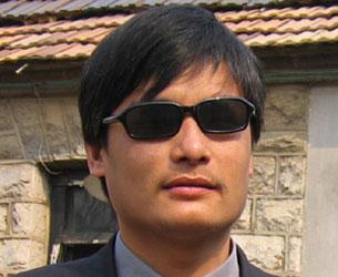 Blind activist Chen Guangcheng in an undated photo.