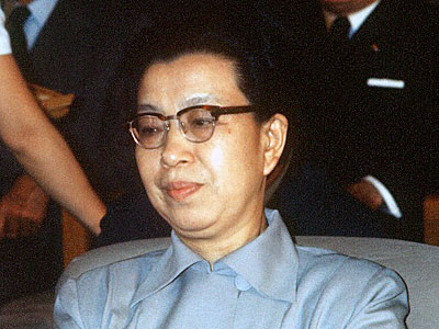 Jiang Qing, Chinese communist political leader and third wife of Mao Zedong, is pictured in Beijing, Sept. 8, 1973.
