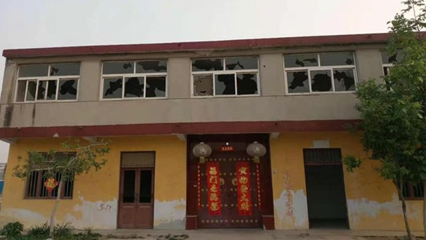 A November 2019 photo of Wang Xiuyan's home in Linyi county in the eastern Chinese province of Shandong that was forcibly demolished.