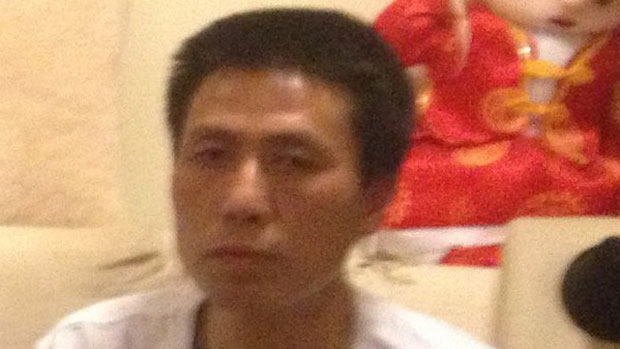 Chinese activist Guan Guilin, who is seeking political asylum in France, in undated photo.