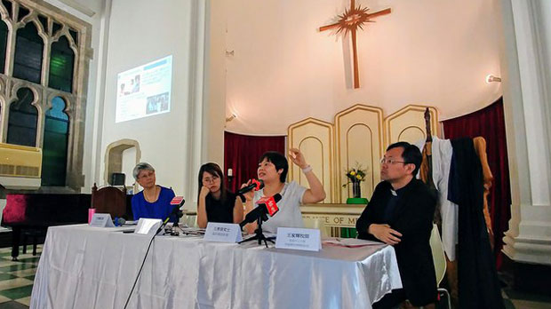 """Hong Kong Christian Council delivers a report called """"No More Silence,"""" which found 55 reports of sexual harassment and assault from church-goers or people who knew about incidents involving others in the same church, June 24, 2018."""