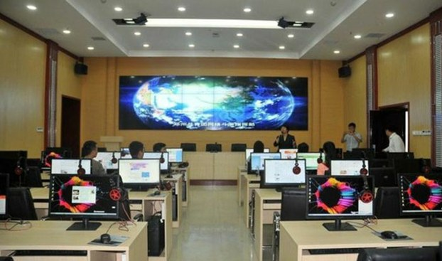 "An inside view of the ""command center for online struggle"" in China's Henan province, is show in an undated photo provided by an insider."