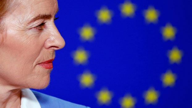 Ursula von der Leyen, incoming president of the European Commission, briefs the media at European Union headquarters in Brussels, Belgium, July 10, 2019.
