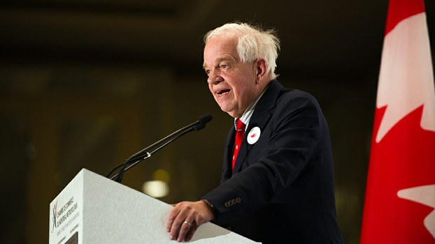 Canada's then-Immigration, Citizenship and Refugees Minister John McCallum speaks at the board of trade of Metropolitan Montreal, in a 2016 file photo.