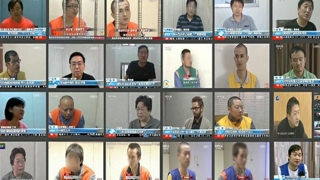 A montage of televised forced confessions of dissidents, foreign human rights activists and others carried by China's state TV between July 2013 and January 2020 and documented by the rights NGO Safeguard Defenders in a submission this week to the U.N. Special Rapporteur.