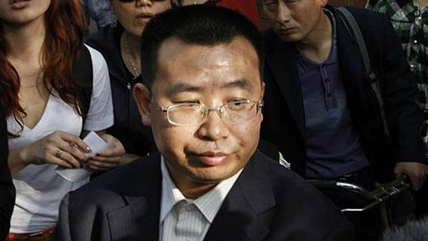 Imprisoned Chinese rights lawyer Jiang Tianyong is shown in a file photo.