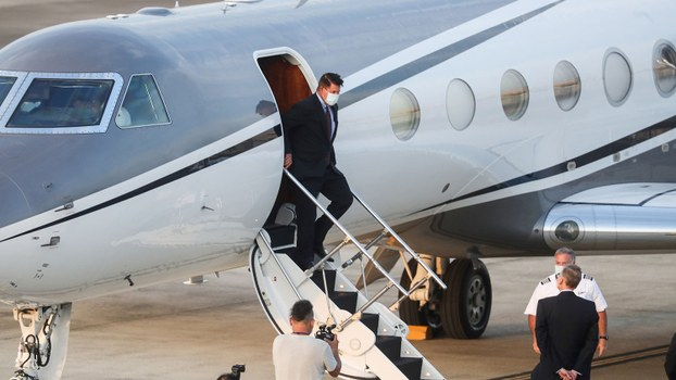 US Undersecretary of State Keith Krach arrives in Taiwan, Sept. 17, 2020.