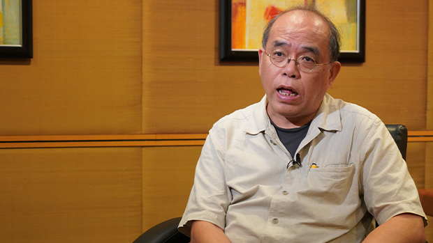 Chung Kim-wah, deputy chief executive of Hong Kong's Public Opinion Research Institute (PORI) says he fears that China's attacks on civil research institutions will continue, Aug. 2020.