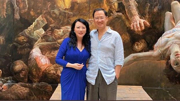 Xu Zhangrun (R) and Geng Xiaonan (L) are shown in an undated photo.