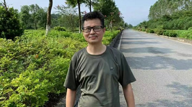 Guo Feixiong after being released from Yingde Prison in Guangdong province, Aug. 7, 2019.