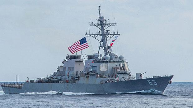 The USS Stethem transits the Taiwan Strait, April 28, 2019.