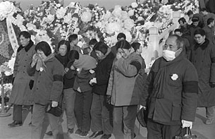 Several hundred thousand people lay wreaths on April 5, 1976 on Tiananmen Square in memory of late Premier Zhou Enlai. The episode was condemned as counter-revolutionary by a tense meeting of the Chinese Communist Party's (CCP) Central Committee. Deng Xiaoping was named as the instigator and stripped of Party posts.