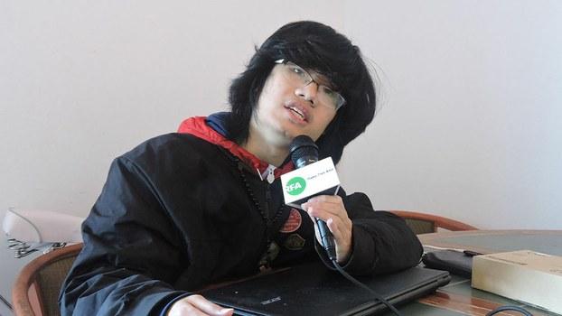 Song Xiaowei speaks with RFA in Los Angeles, California, Jan. 24, 2018.