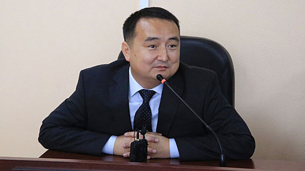 Kazakh rights activist Serikzhan Bilash is shown in an undated photo.