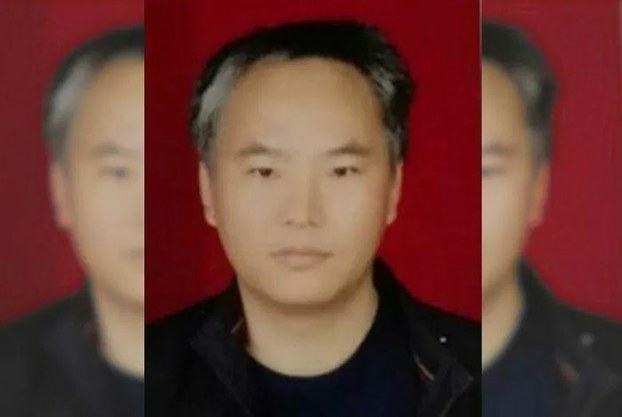 Chinese dissident Zhang Haitao, now jailed in Xinjiang, is shown in an undated photo.