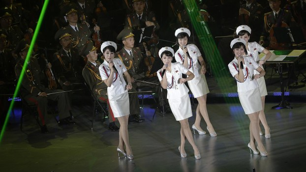 In this file photo, singers from the Moranbong band perform in Pyongyang, North Korea.