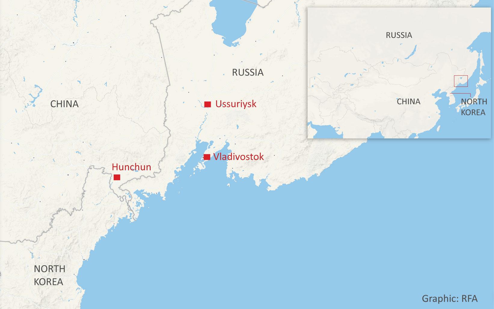 vladivostok-ussuriysk-hunchun-nk-map