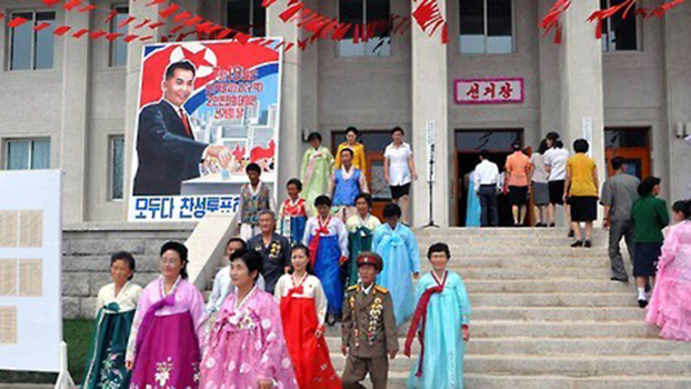 Many citizens in North Korea wear traditional clothing or military uniforms to the polls, highlighting the patriotic significance of elections.