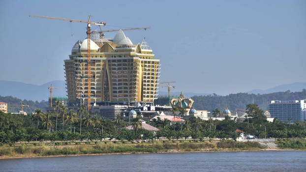 This photo of the Kings Romans Casino in Laos' Golden Triangle SEZ was taken in December 2019 by a citizen journalist.