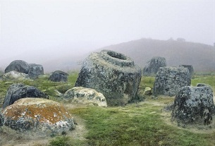 Part of the Plain of Jars site in northern Laos's Xiangkhoang province.