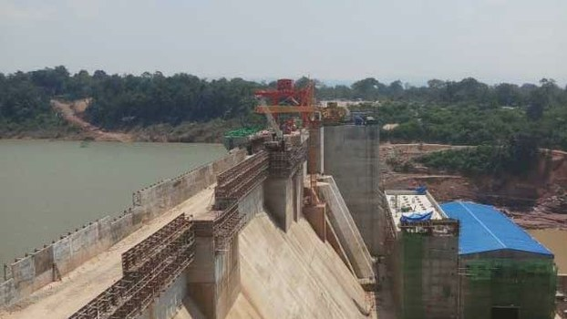 Construction continues on the Xe La Nong 1 Dam.