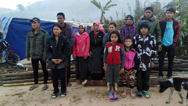 Lao Christians evicted from their homes in Luang Namtha province's Long district are shown in a February 2020 photo.