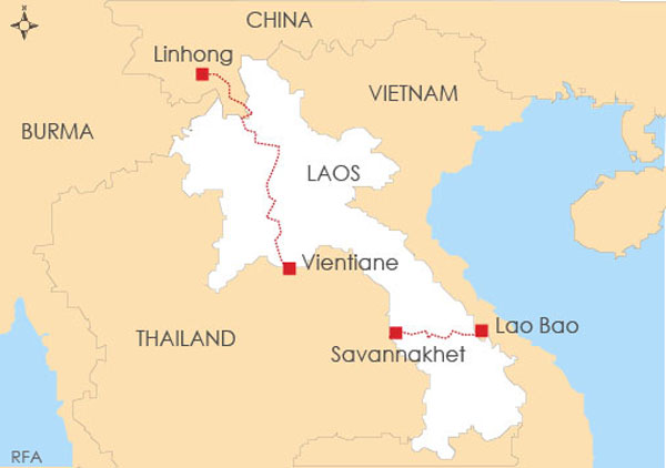 Laos hopes a railway between Vietnam and Thailand and another connecting Thailand and China will help drive socio-economic development in the impoverished country.