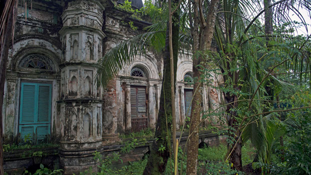 The run-down Jama mosque, a center of Islamic worship built in 1859 and permanently closed in 2012 following deadly clashes between Muslims and Buddhists, sits amid overgrown vegetation in Sittwe, capital of western Myanmar's Rakhine state, Sept. 7, 2016.