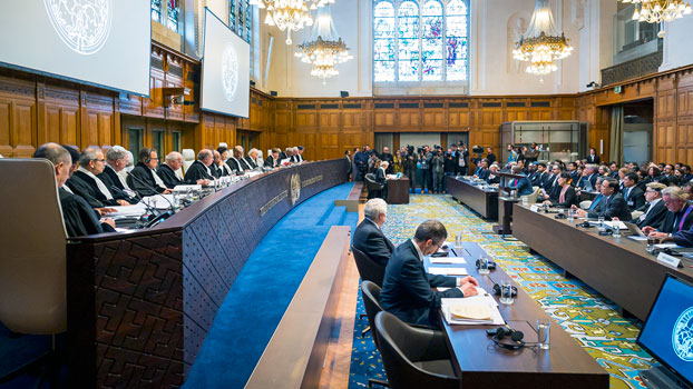 The International Court of Justice holds a public hearing on the Rohingya genocide case in The Hague, the Netherlands, Dec. 10, 2019.