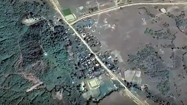 A satellite view of Thazin Myaing village, Ratheduang township, in western Myanmar's Rakhine state, May 29, 2020.