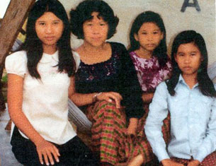 Valerie Nong's family in the Philippines, without her second-youngest sister, 1982.