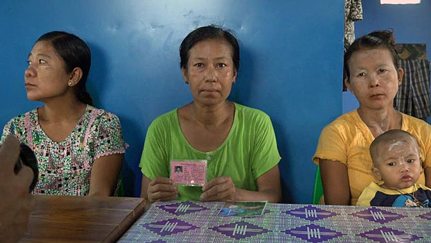 Residents of Tin Ma village tract, Kyauktaw township, in western Myanmar's Rakhine state say government soldiers continue to detain their their family members, at a press conference in Sittwe, June 15, 2020.