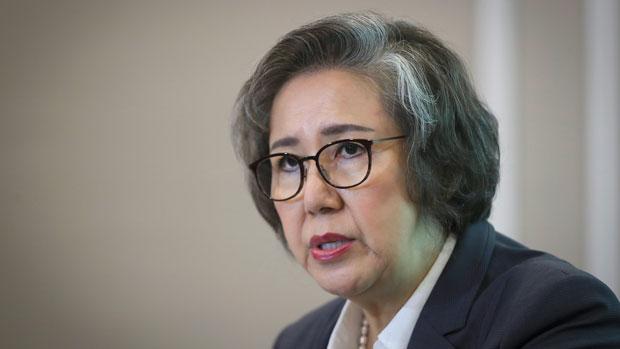 UN special rapporteur Yanghee Lee speaks to reporters in Kuala Lumpur, Malaysia, July 18, 2019.